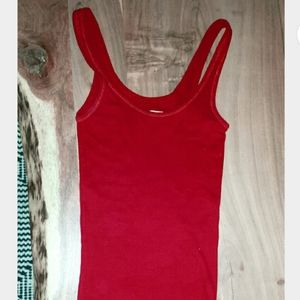 HOLLISTER- Crimson Red So Cal Stretch Tank Top- XS